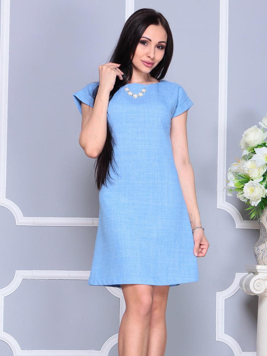 Платье голубое | 4201155