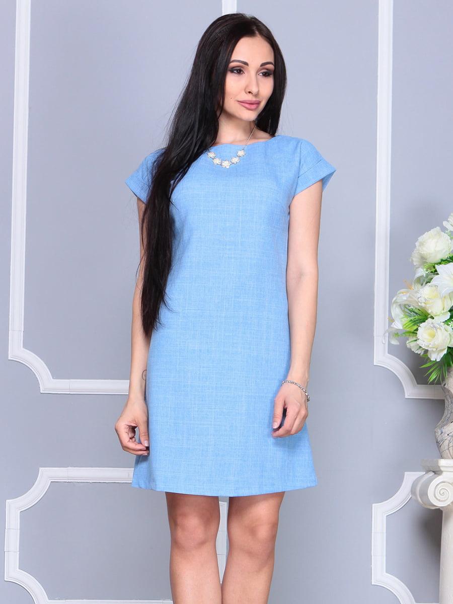 Платье голубое | 4201155 | фото 3