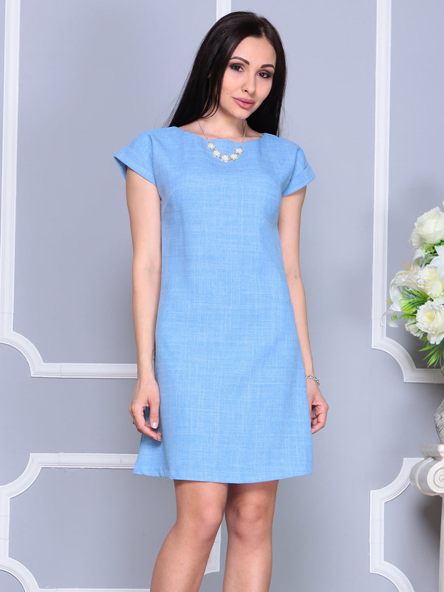 Платье голубое | 4201155 | фото 4