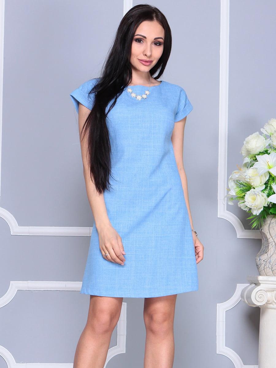 Платье голубое | 4201155 | фото 5
