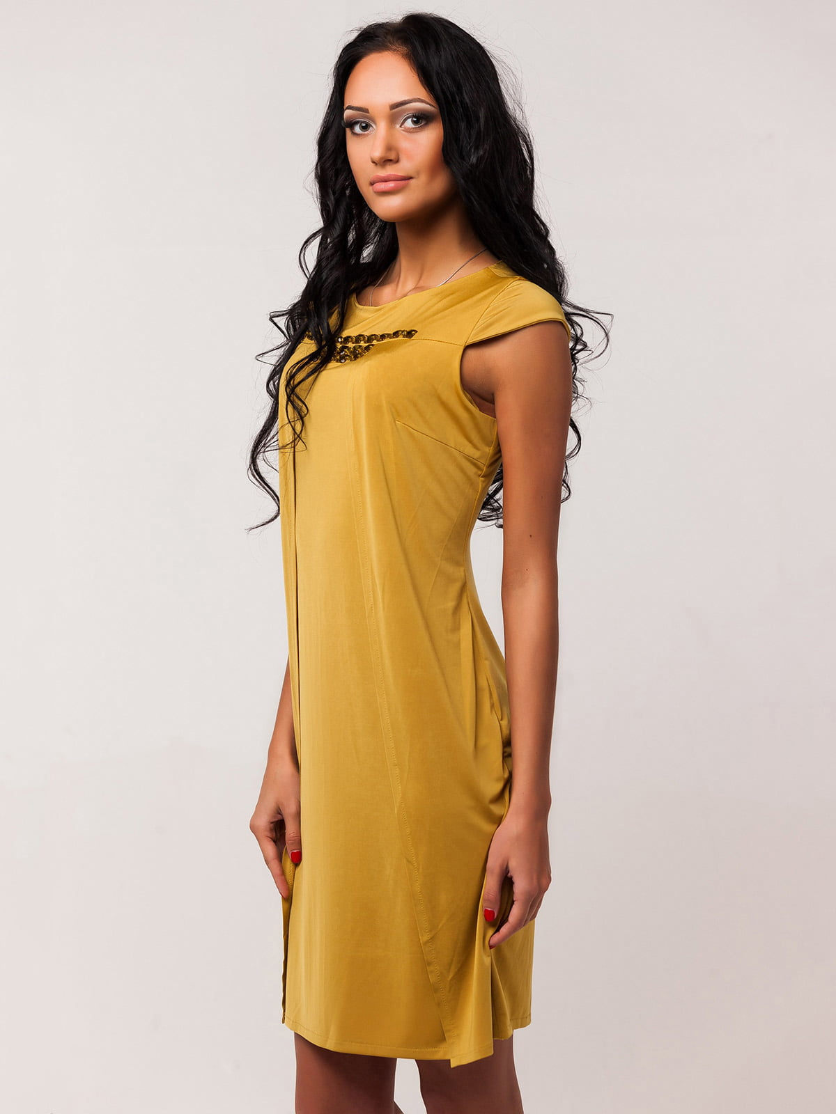 Сукня гірчичного кольору   2386060   фото 2