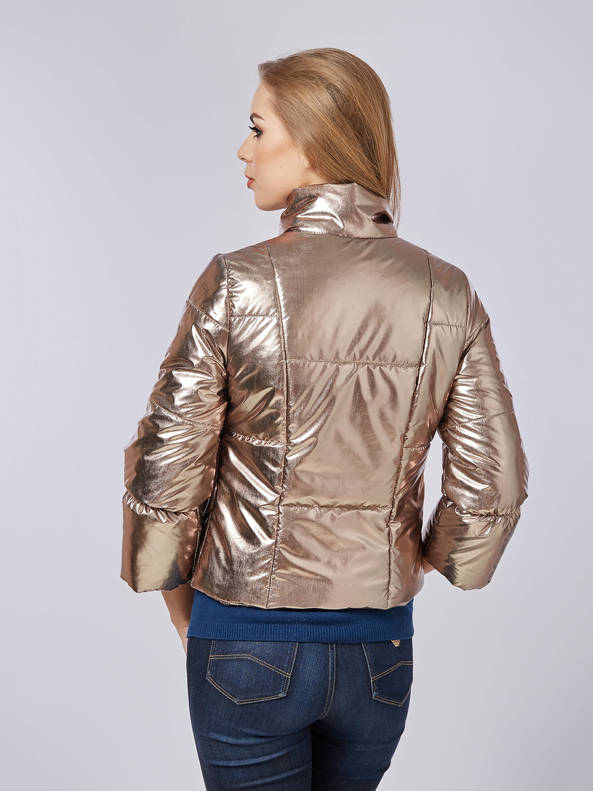Куртка золотистая | 4202666 | фото 2
