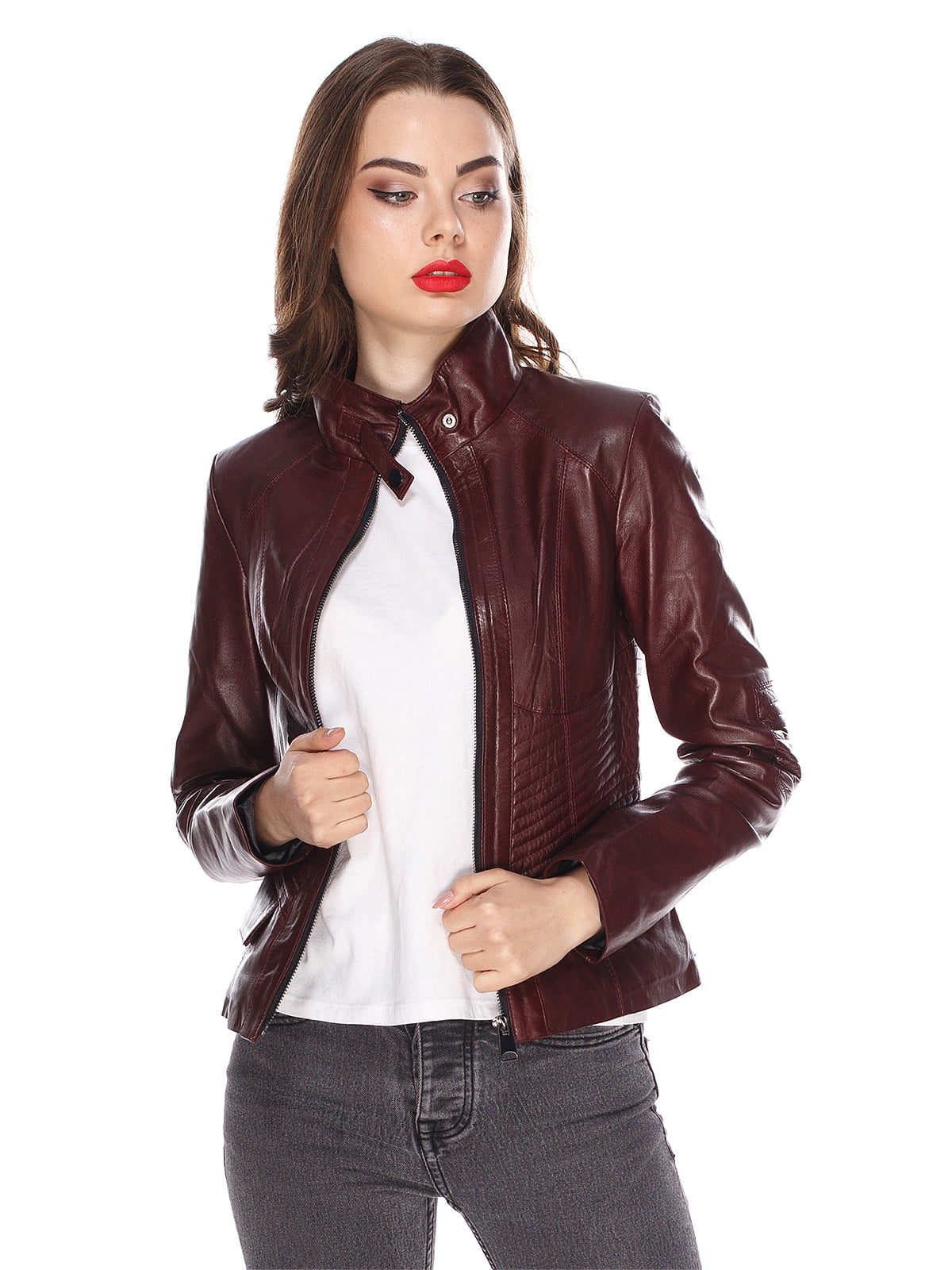 Куртка бордова | 4203720