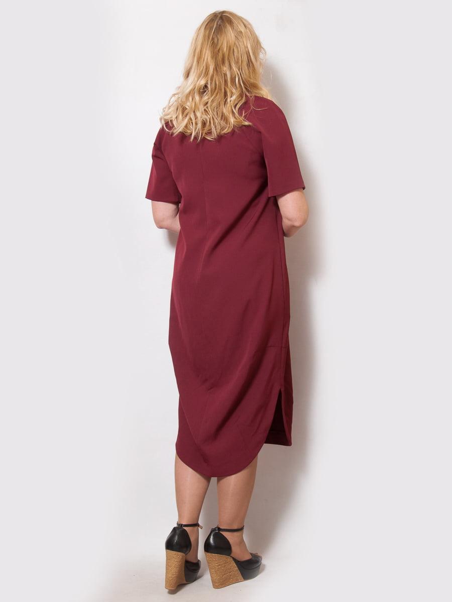 Платье бордовое | 4211912 | фото 2