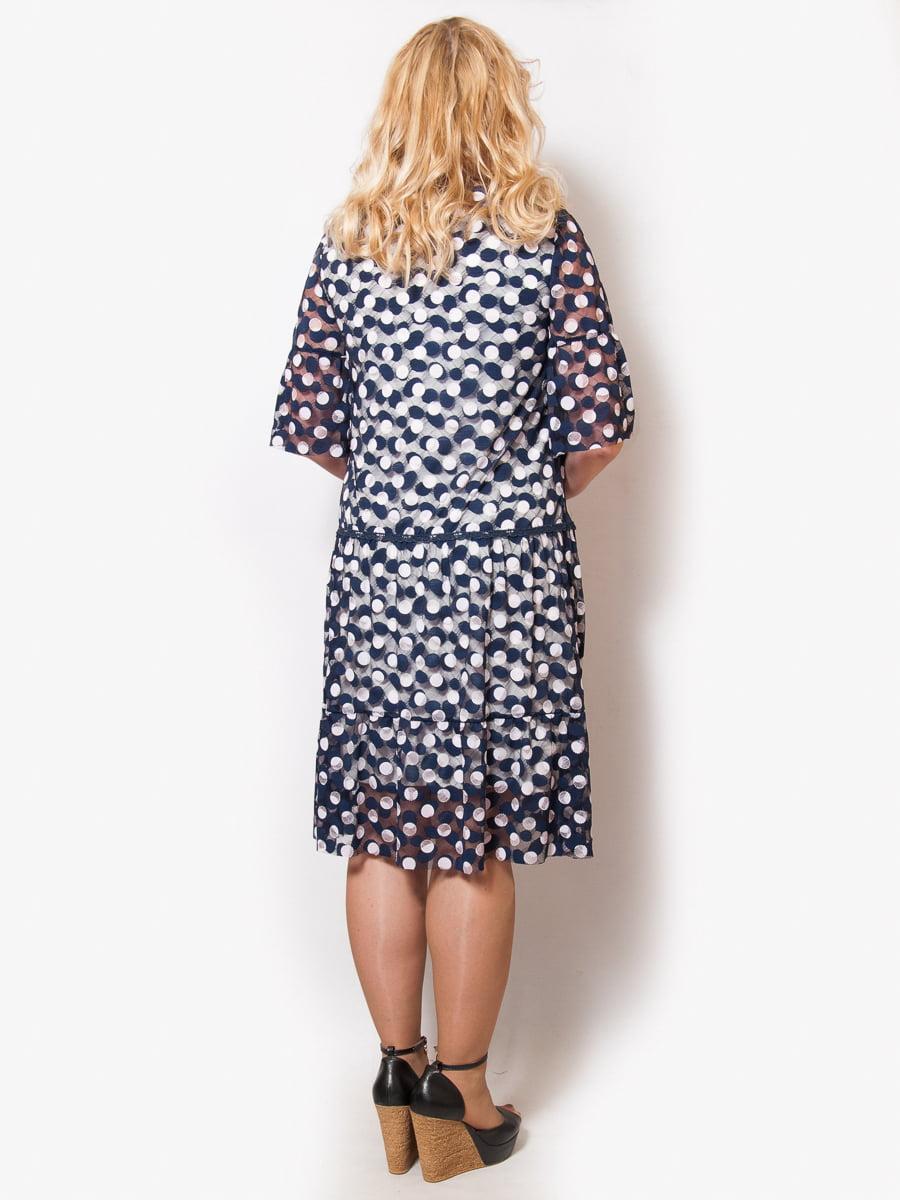 Платье синее с принтом   4211930   фото 2