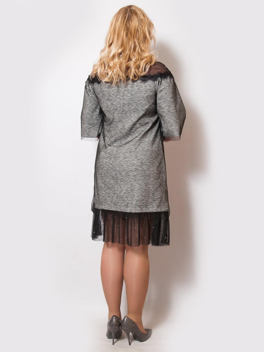 Платье серое | 4211934 | фото 2