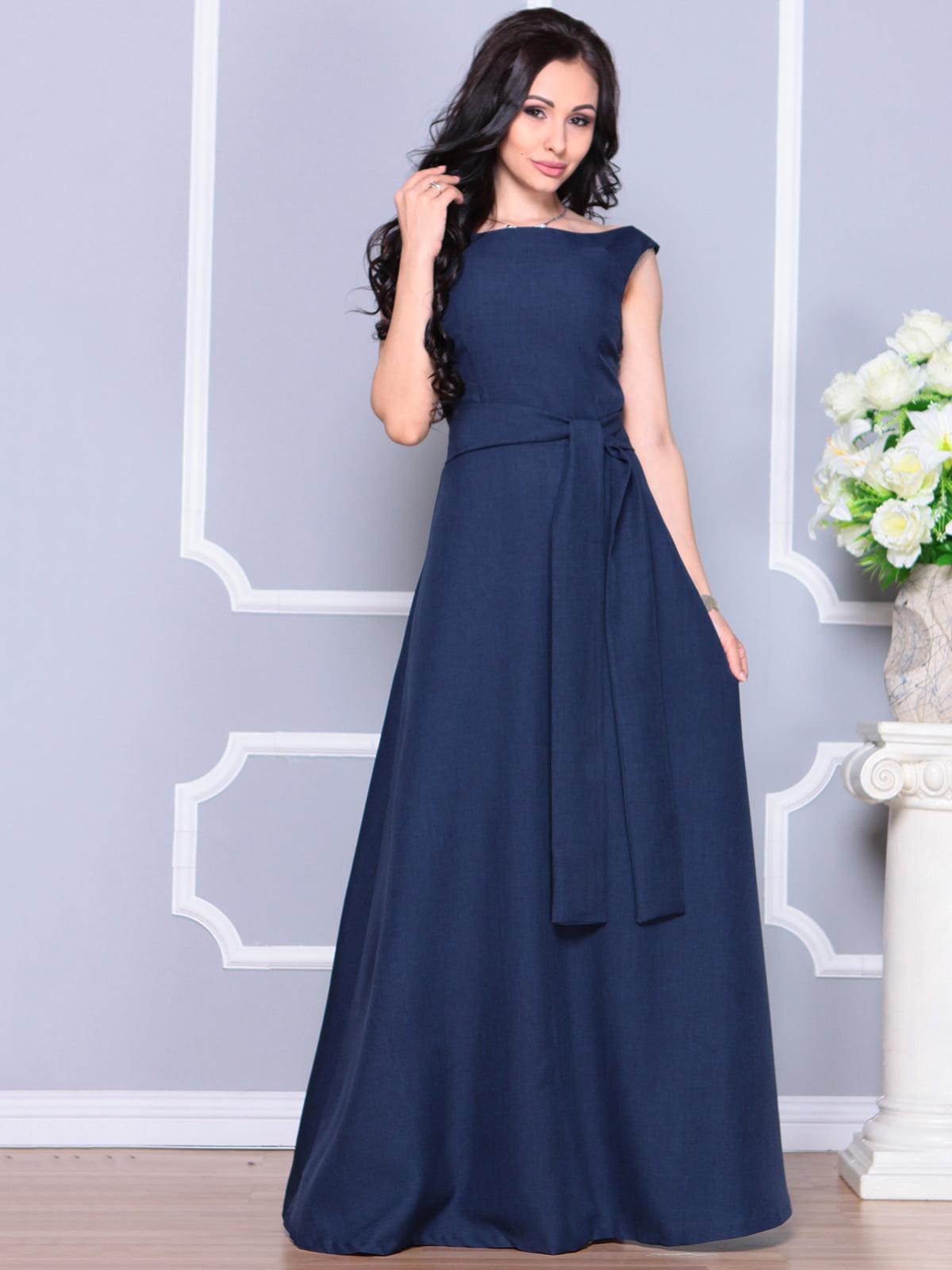 Платье темно-синее | 4211966
