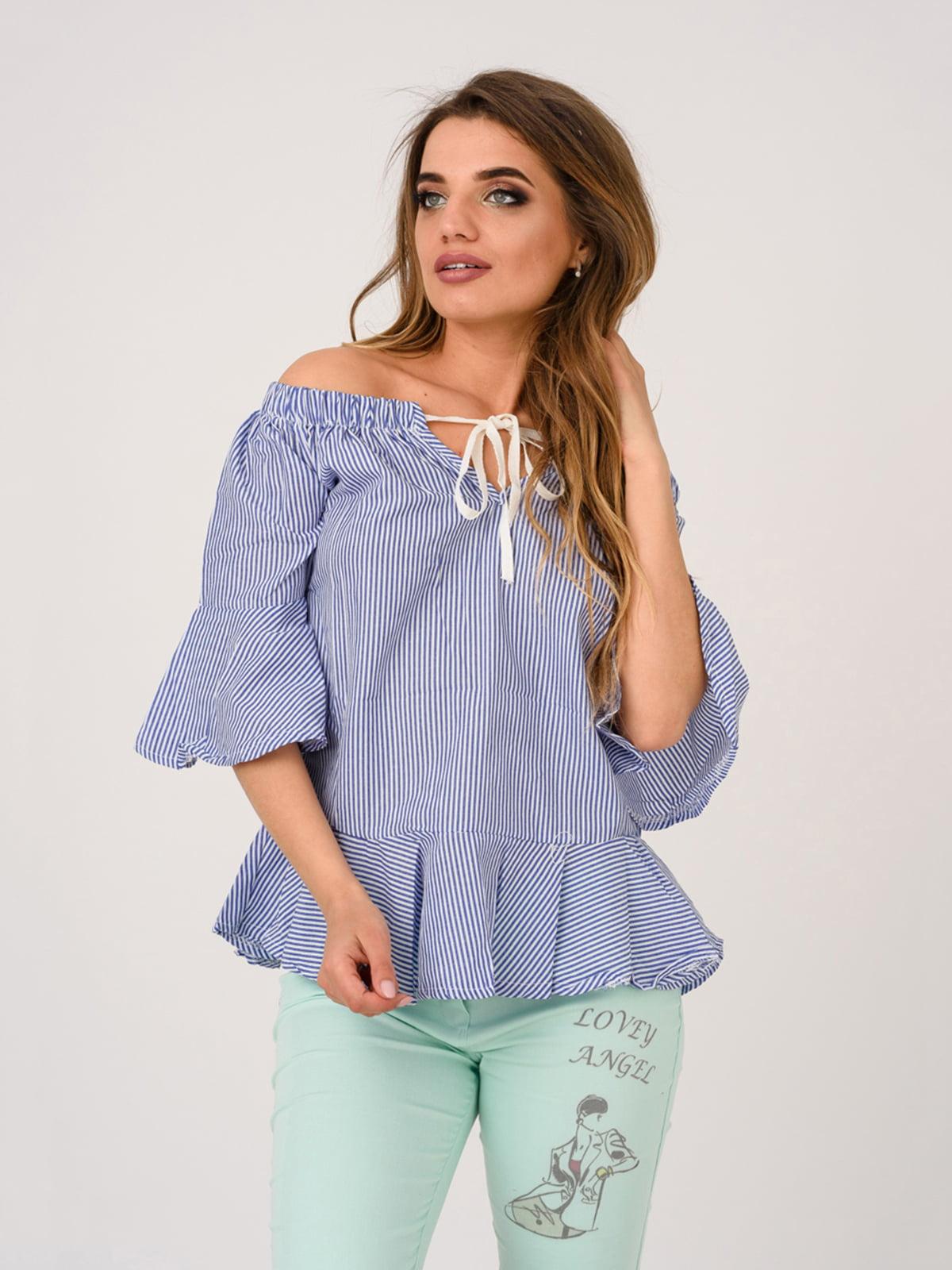 Блуза синяя | 4184460
