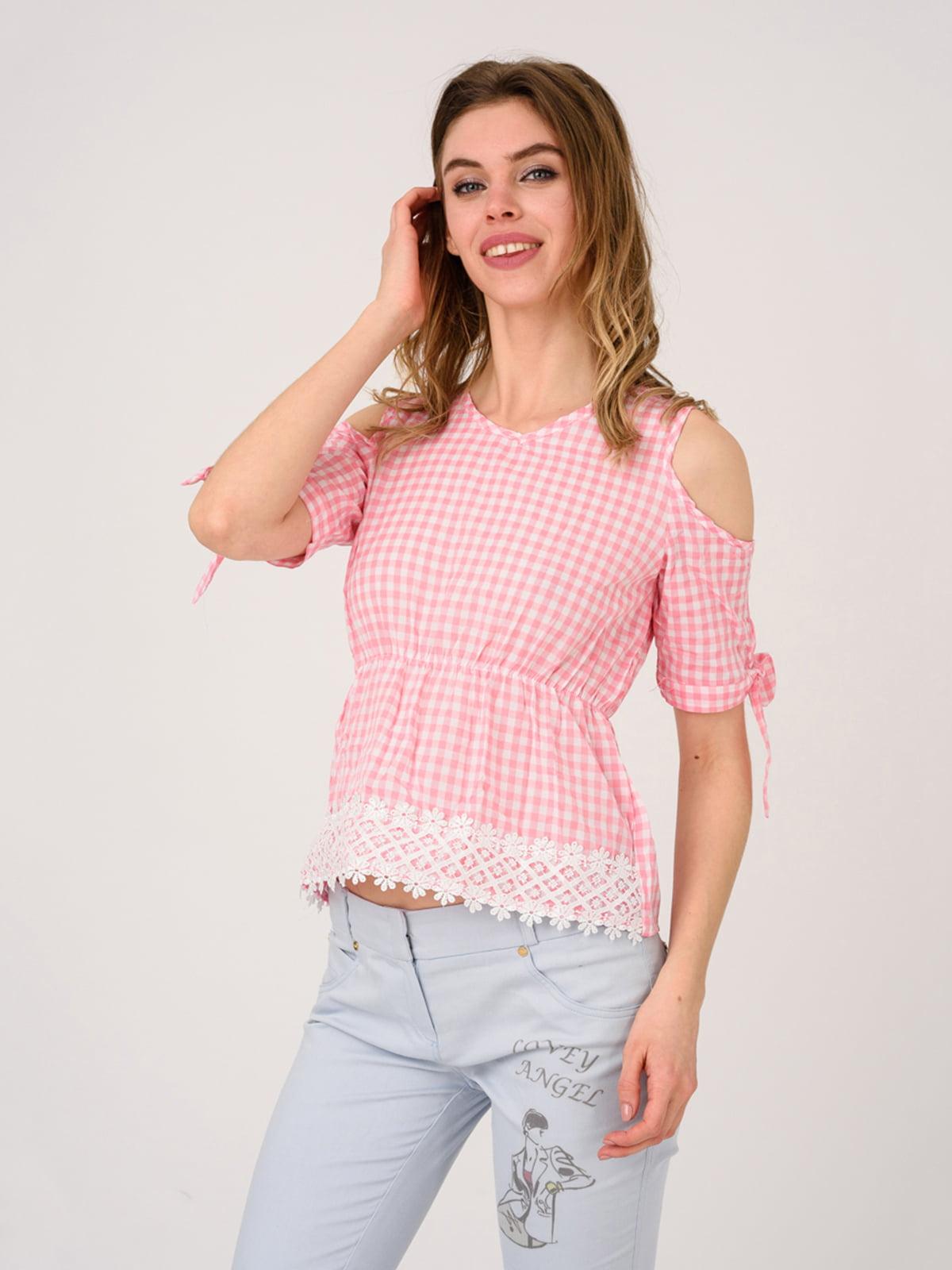 Блуза розовая | 4184489