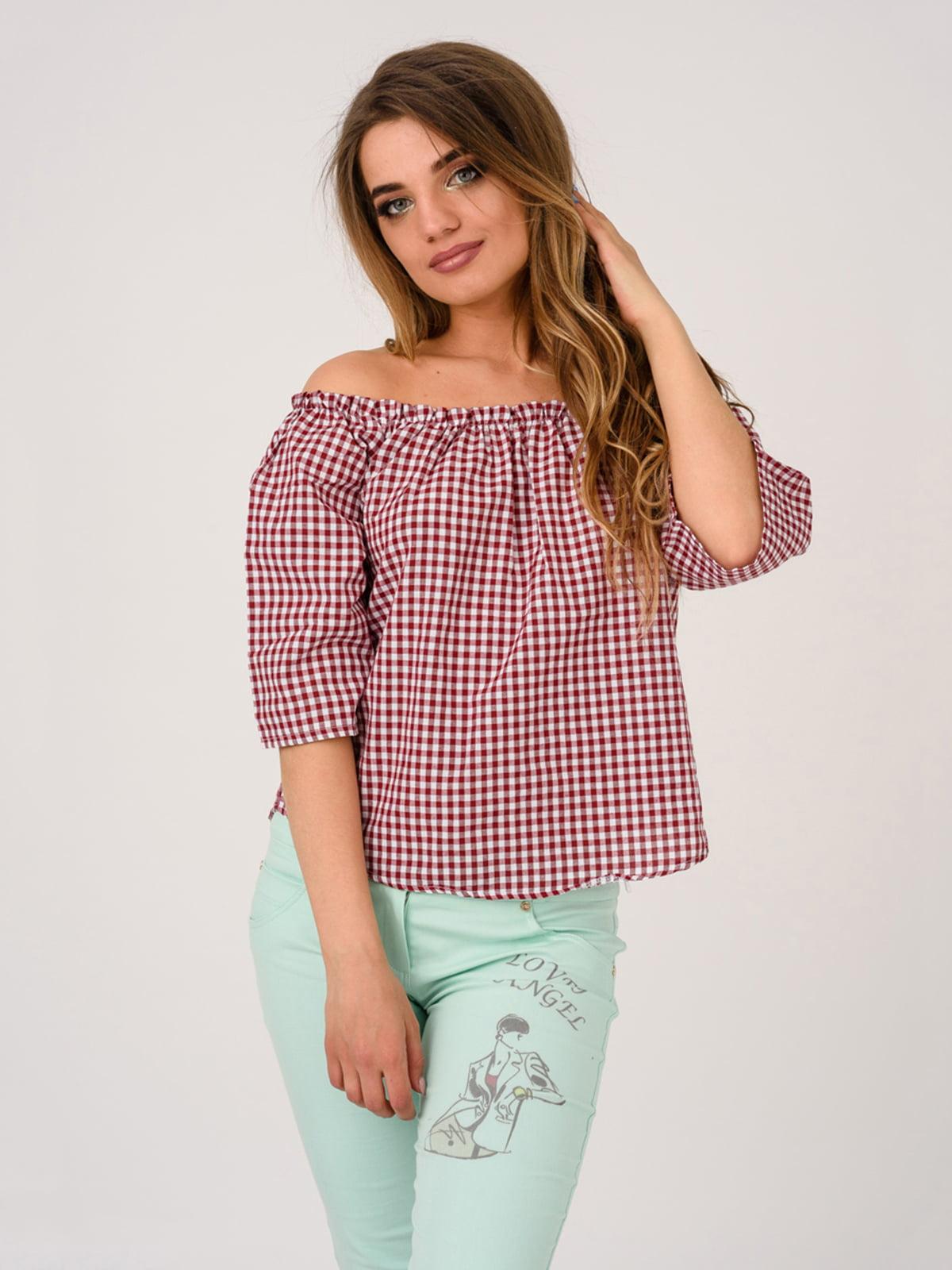 Блуза бордовая | 4184512