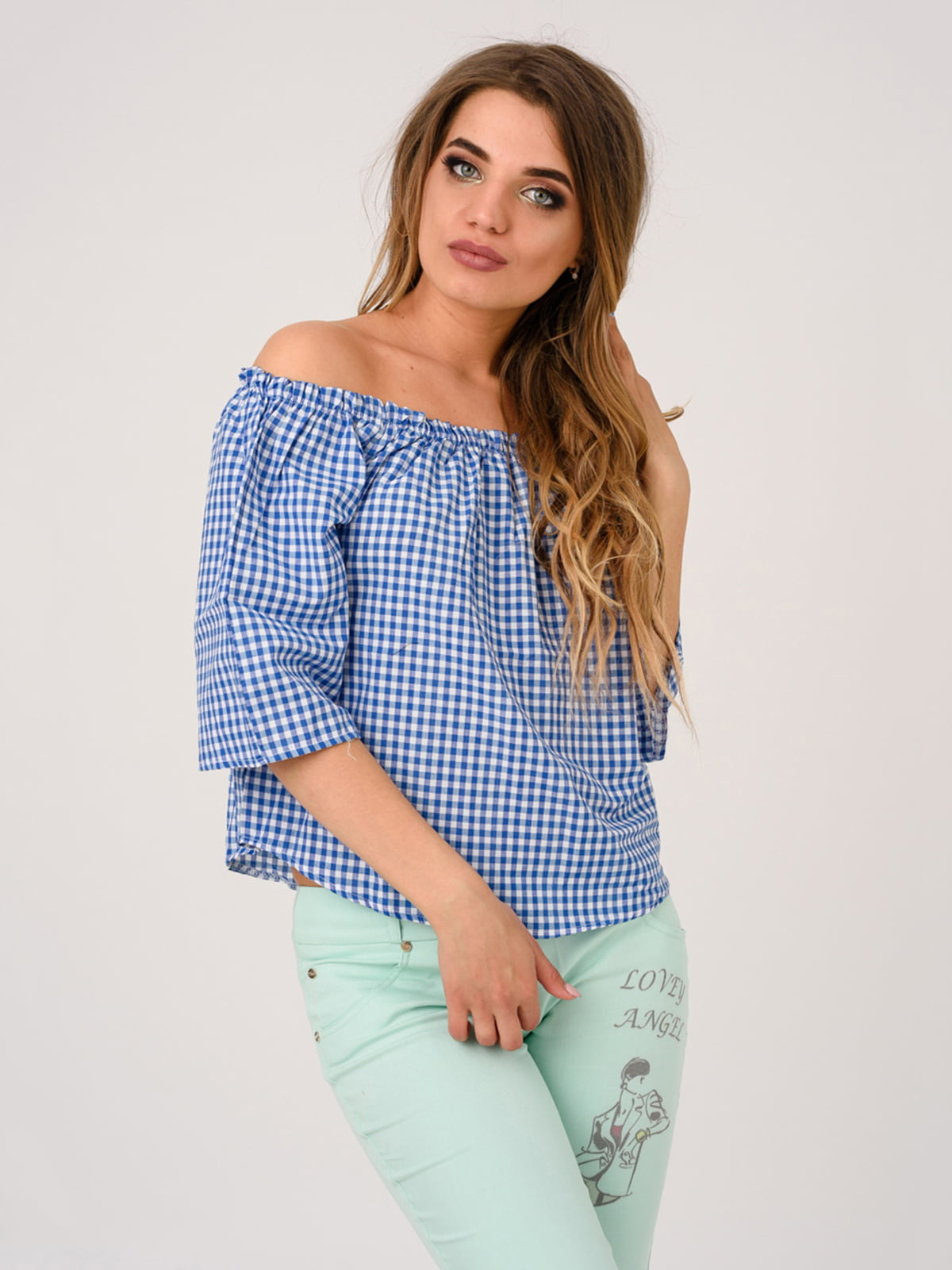 Блуза синяя | 4184515