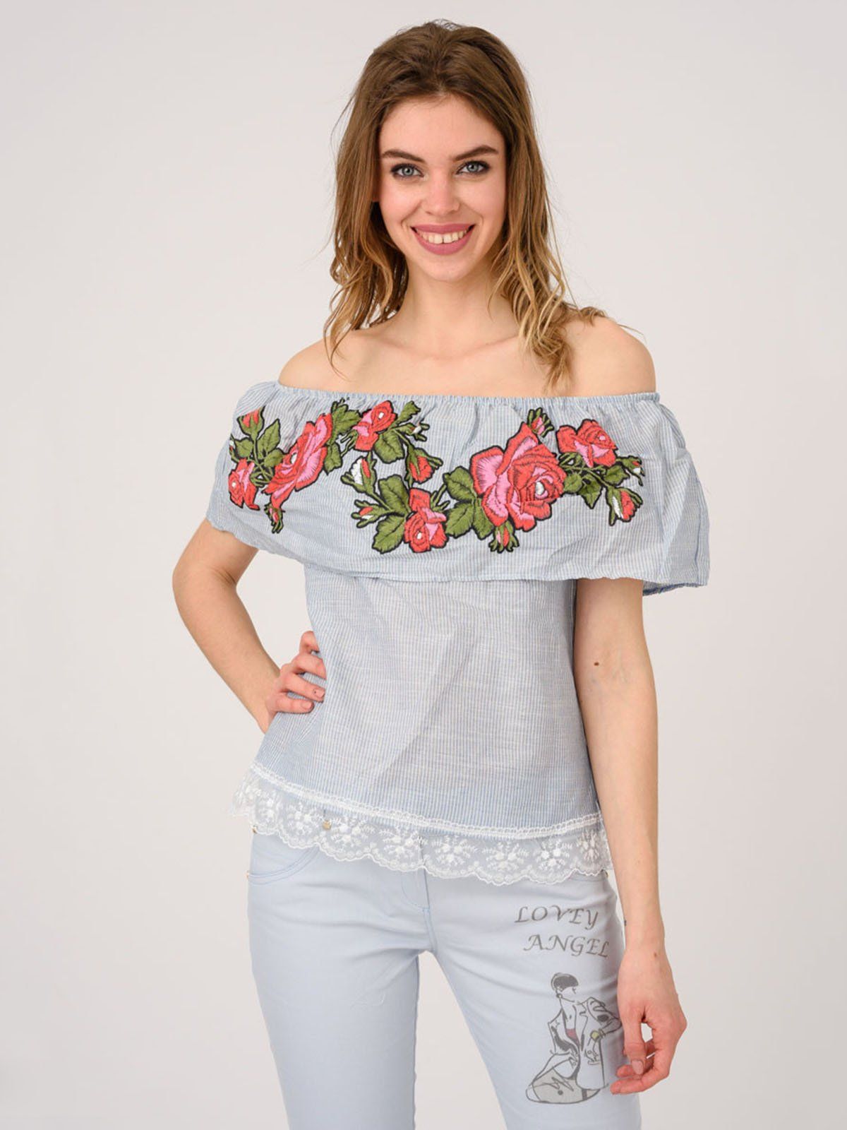 Блуза синяя | 4214480