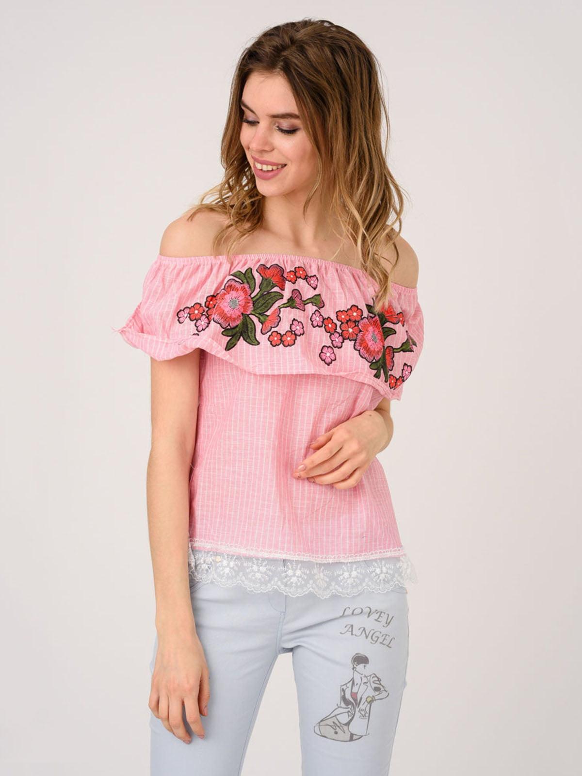 Блуза розовая | 4214506