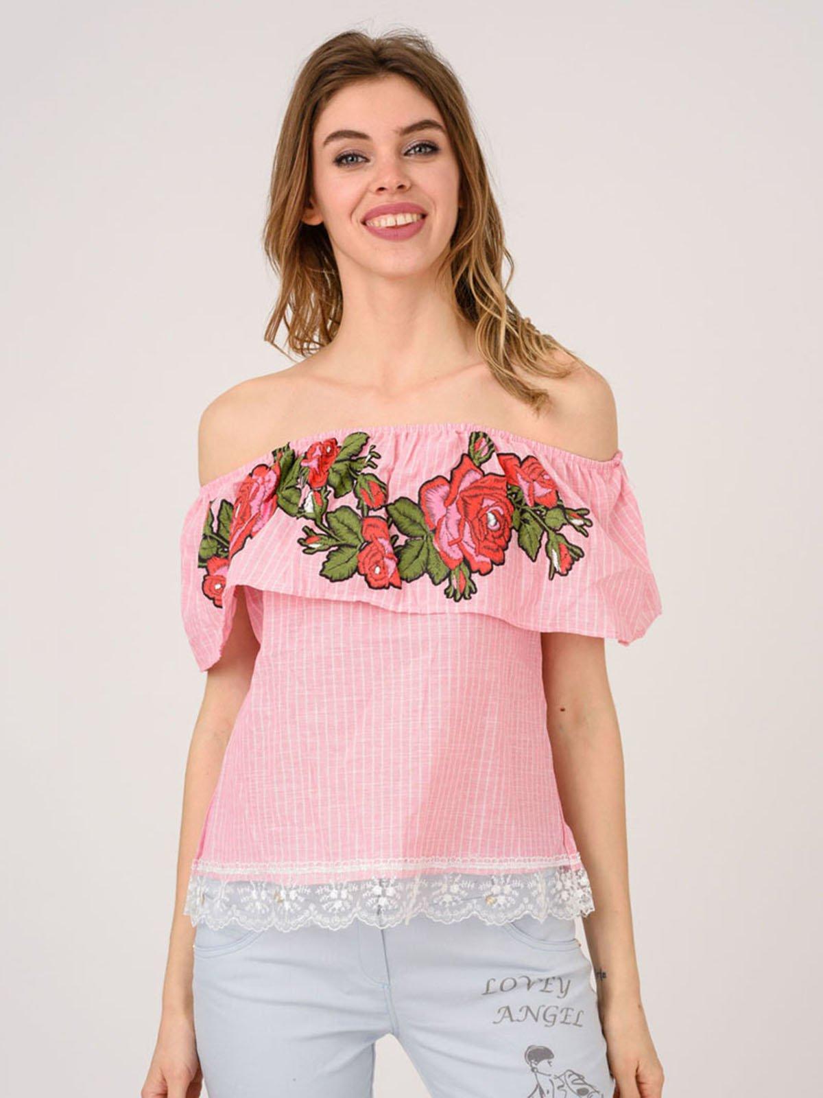 Блуза рожева | 4214507