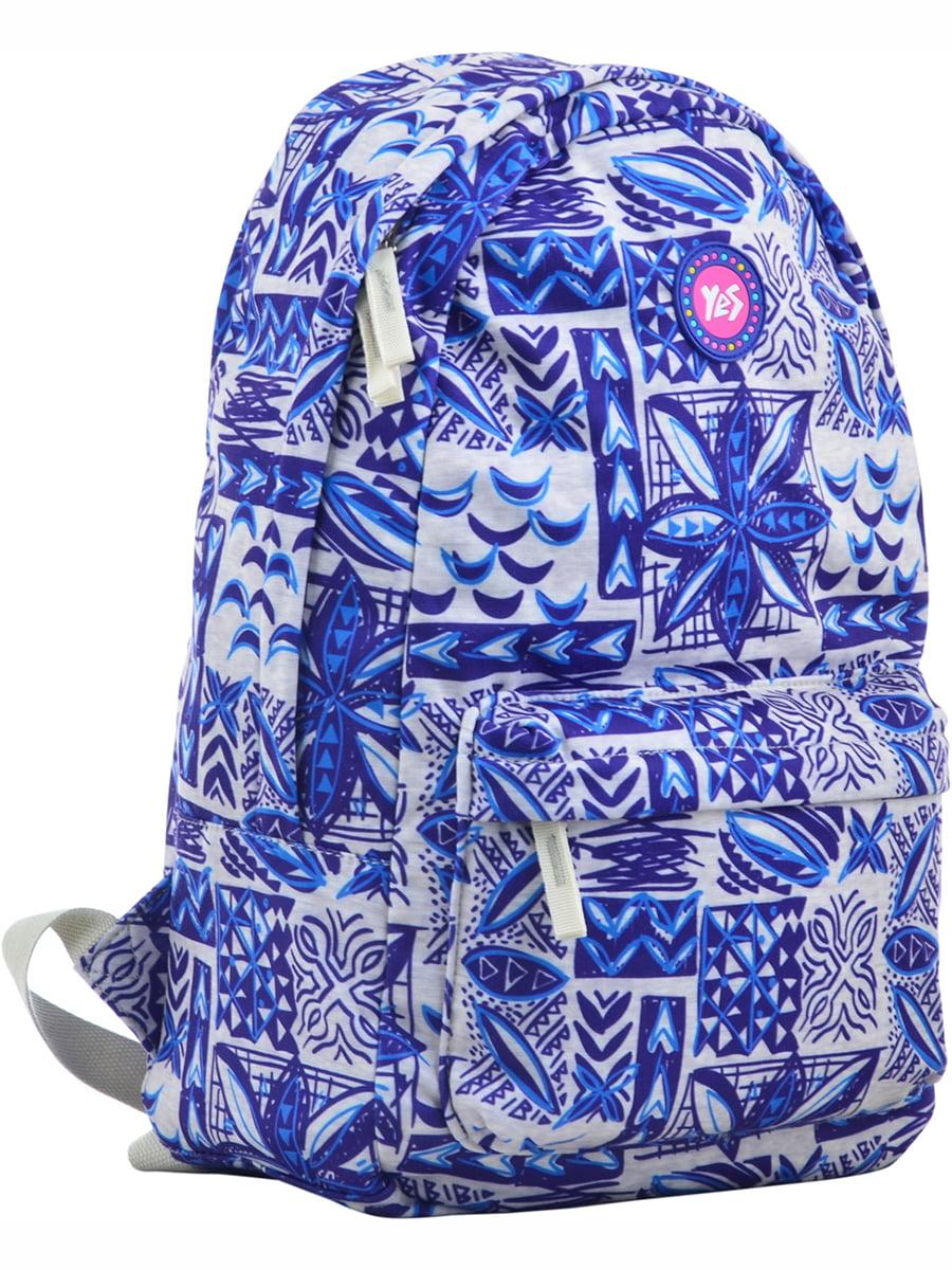 Рюкзак синій в принт | 4214856