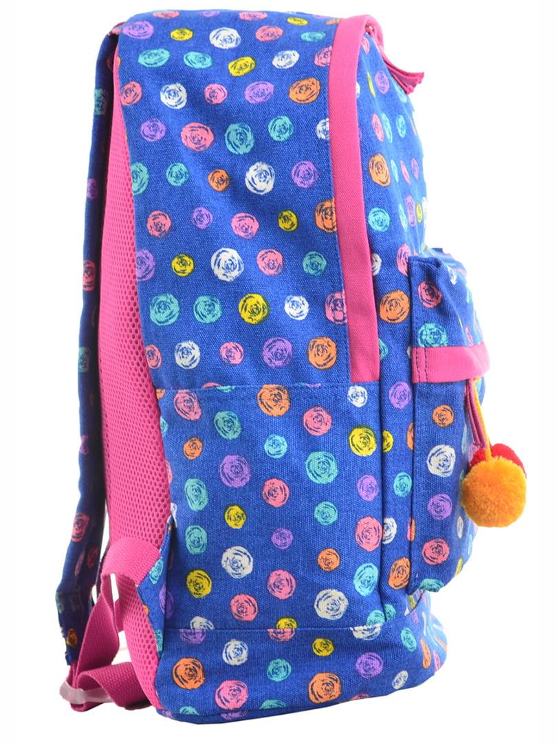 Рюкзак блакитний принт | 4214864 | фото 2