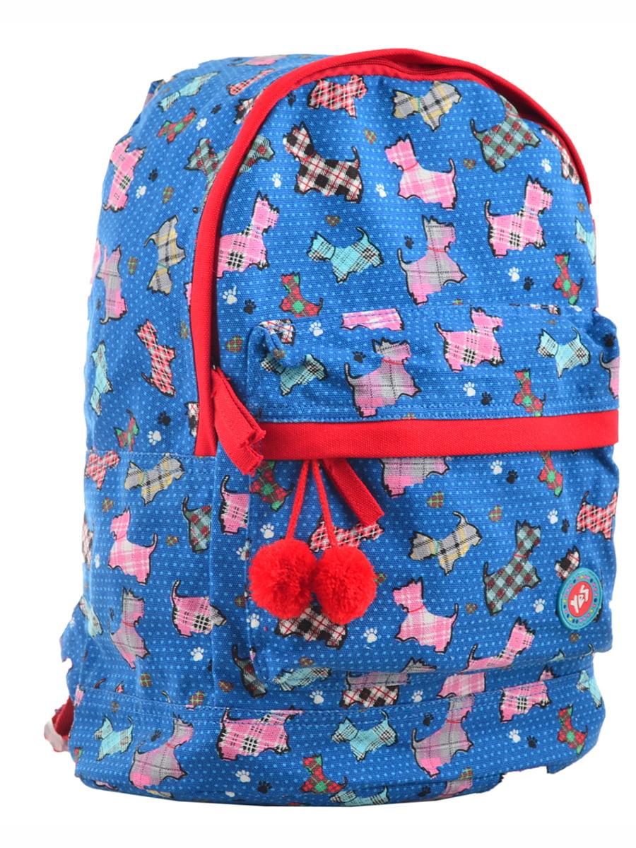 Рюкзак синій в принт | 4214867