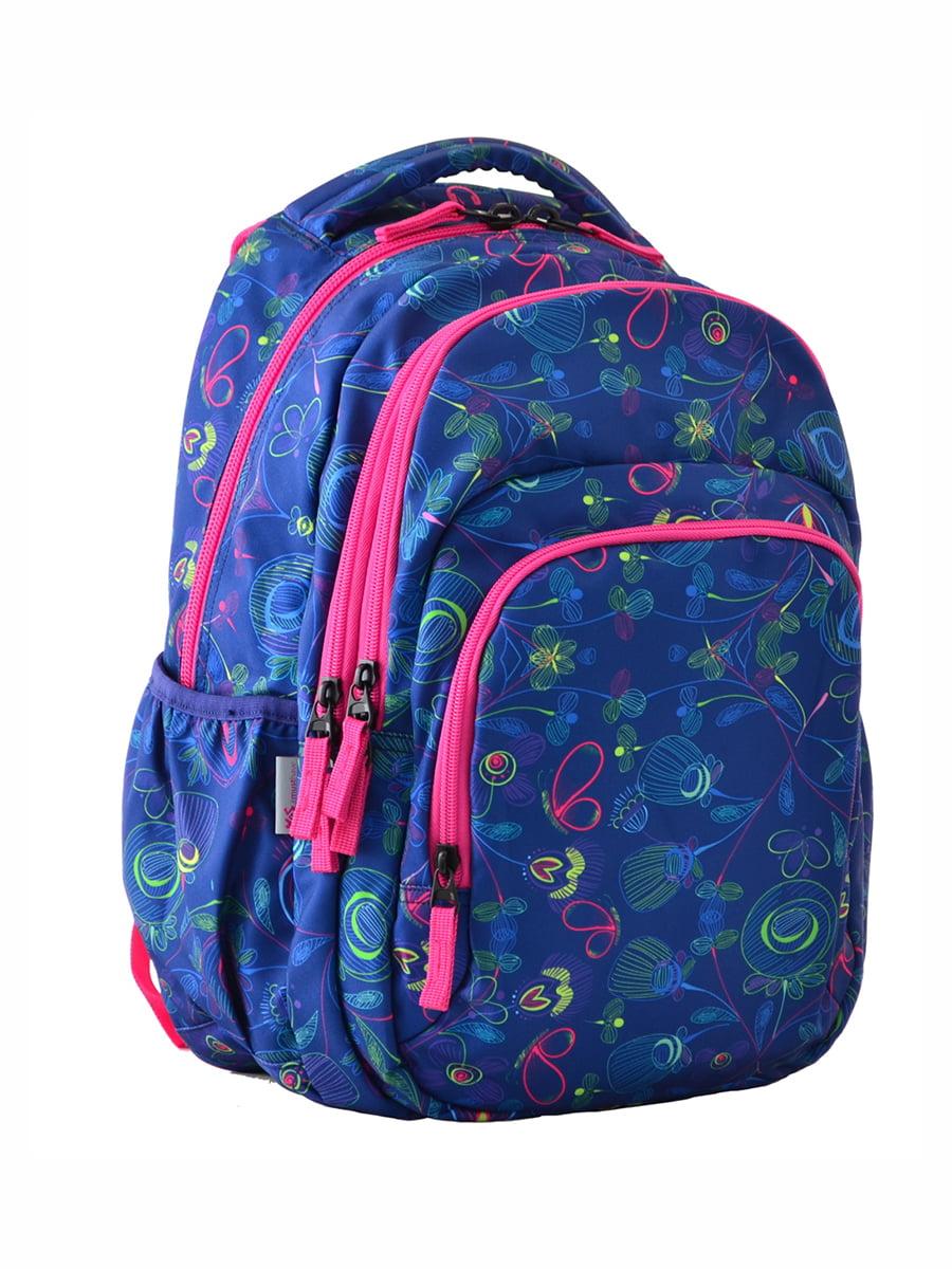 Рюкзак синій в принт | 4214924