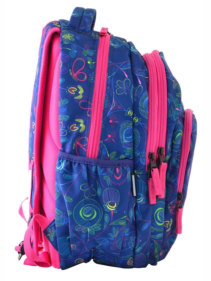 Рюкзак синій в принт | 4214924 | фото 2