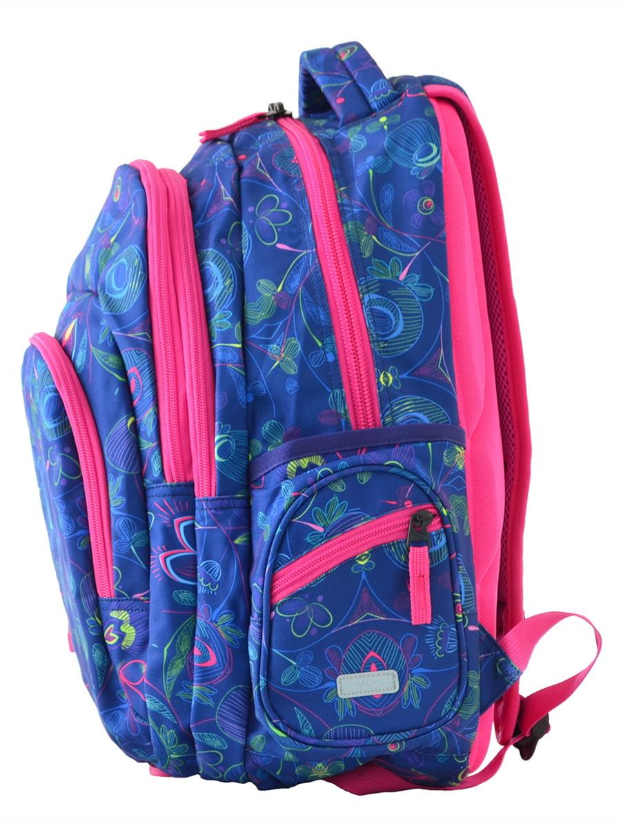 Рюкзак синій в принт | 4214924 | фото 3