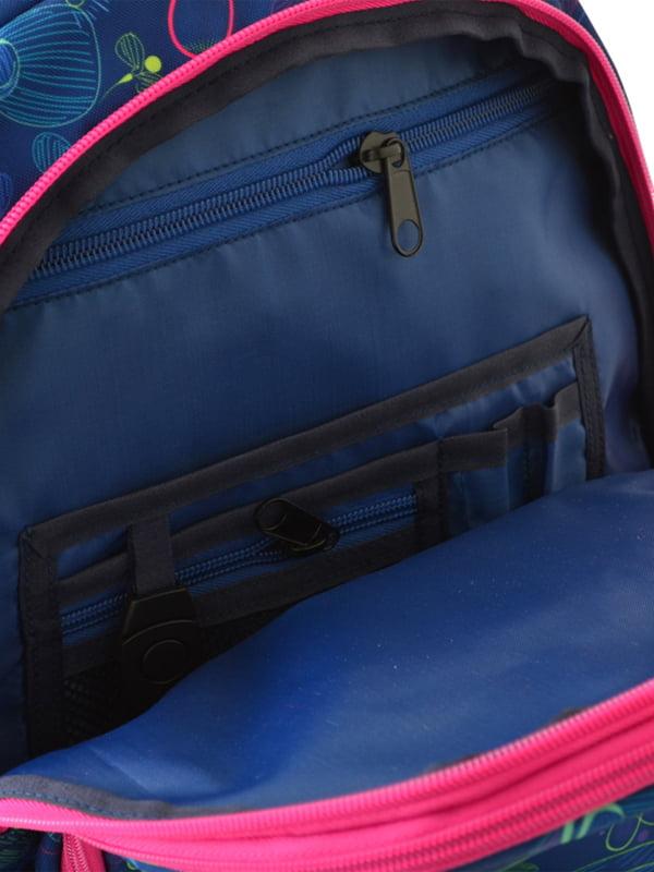Рюкзак синій в принт | 4214924 | фото 5