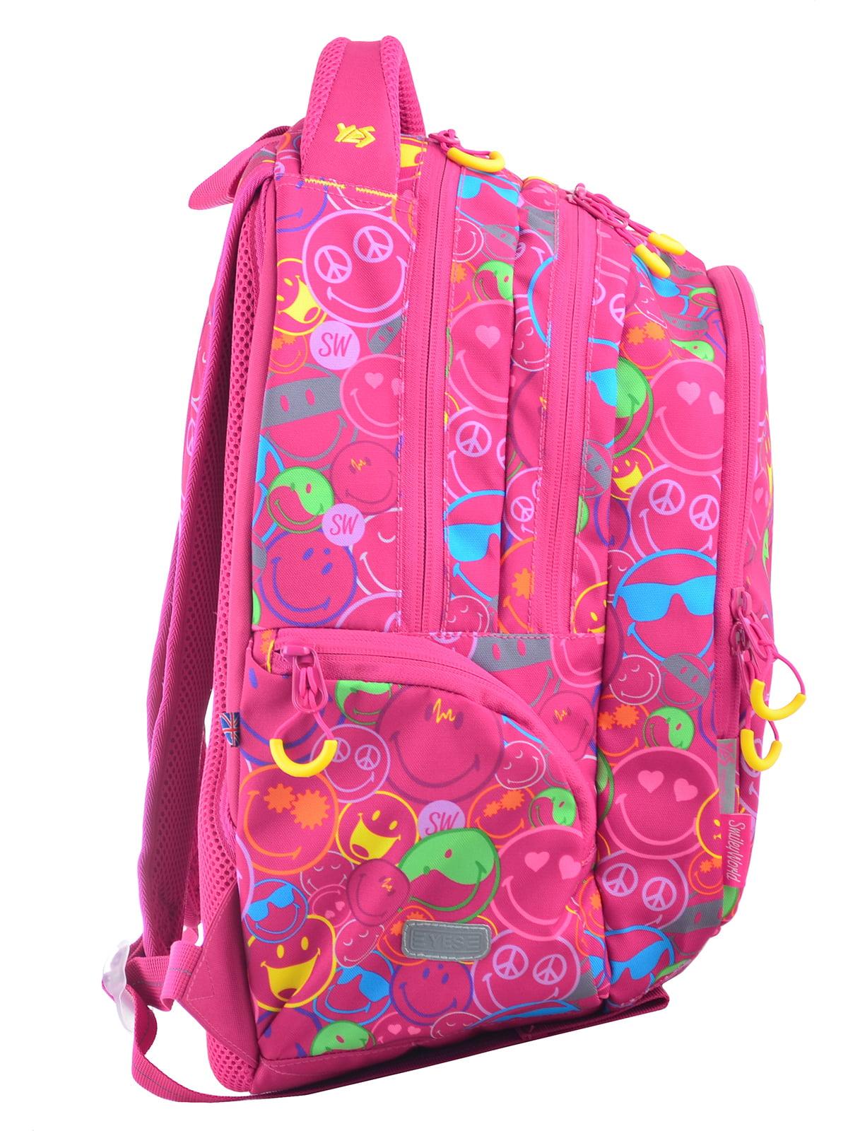 Рюкзак рожевий в принт | 4214930 | фото 2