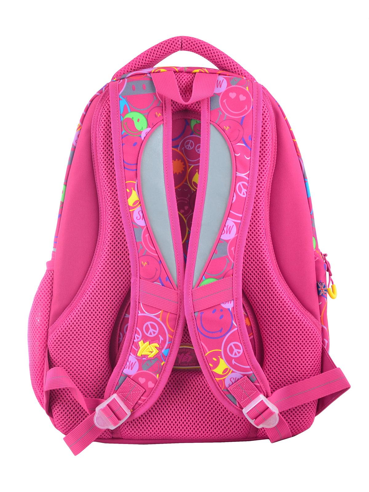 Рюкзак рожевий в принт | 4214930 | фото 4