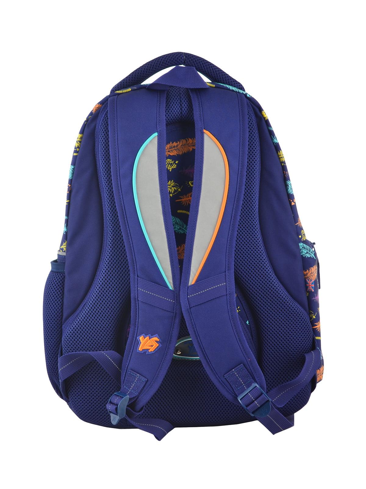 Рюкзак синій в принт | 4214931 | фото 4