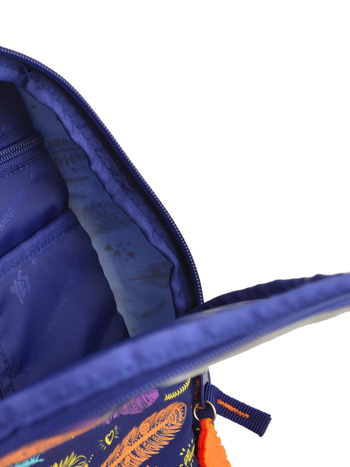 Рюкзак синій в принт | 4214931 | фото 5