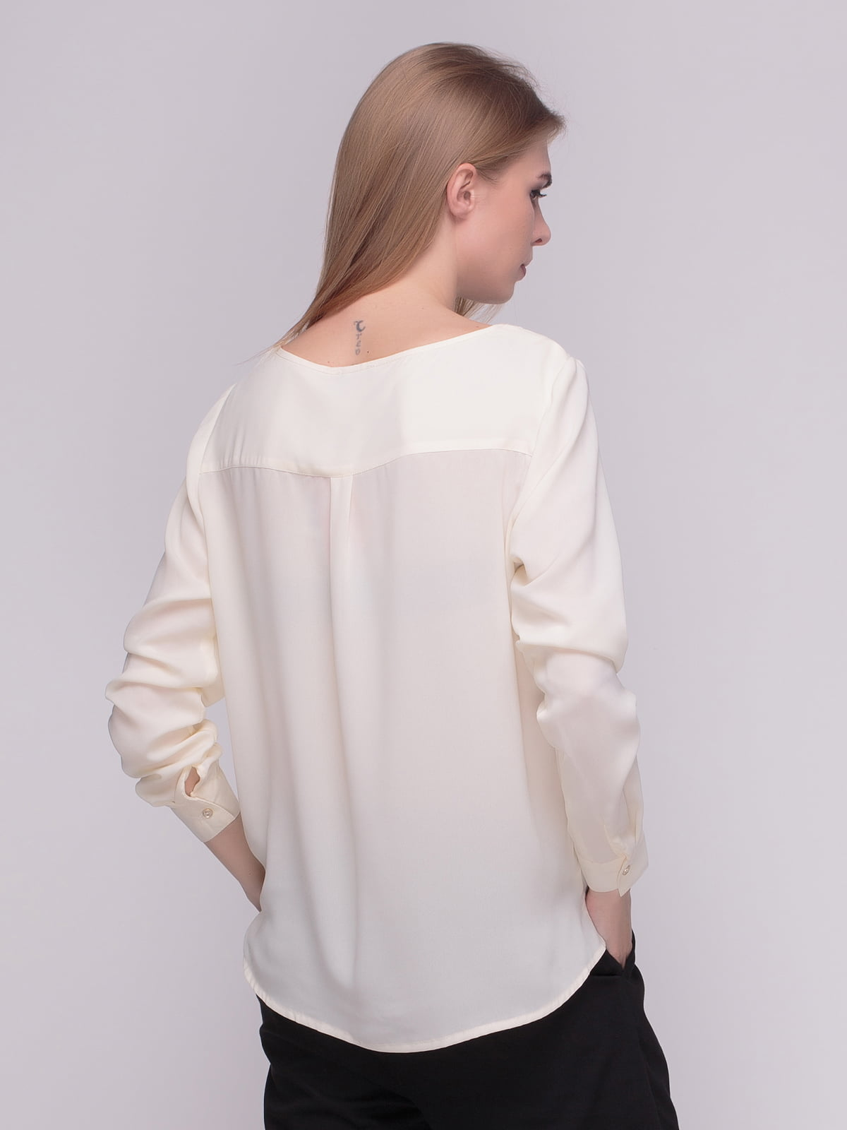 Блуза молочного цвета | 4210300 | фото 2