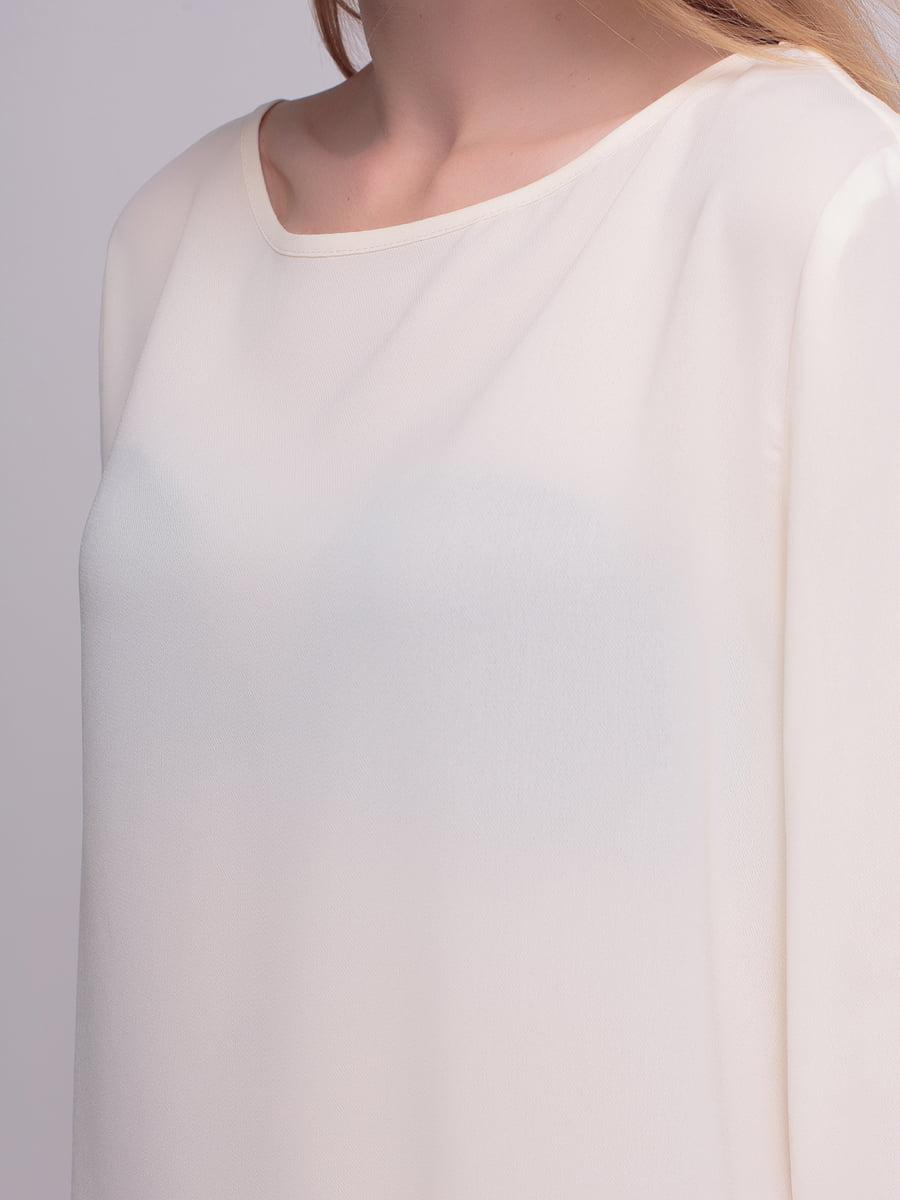 Блуза молочного цвета | 4210300 | фото 3