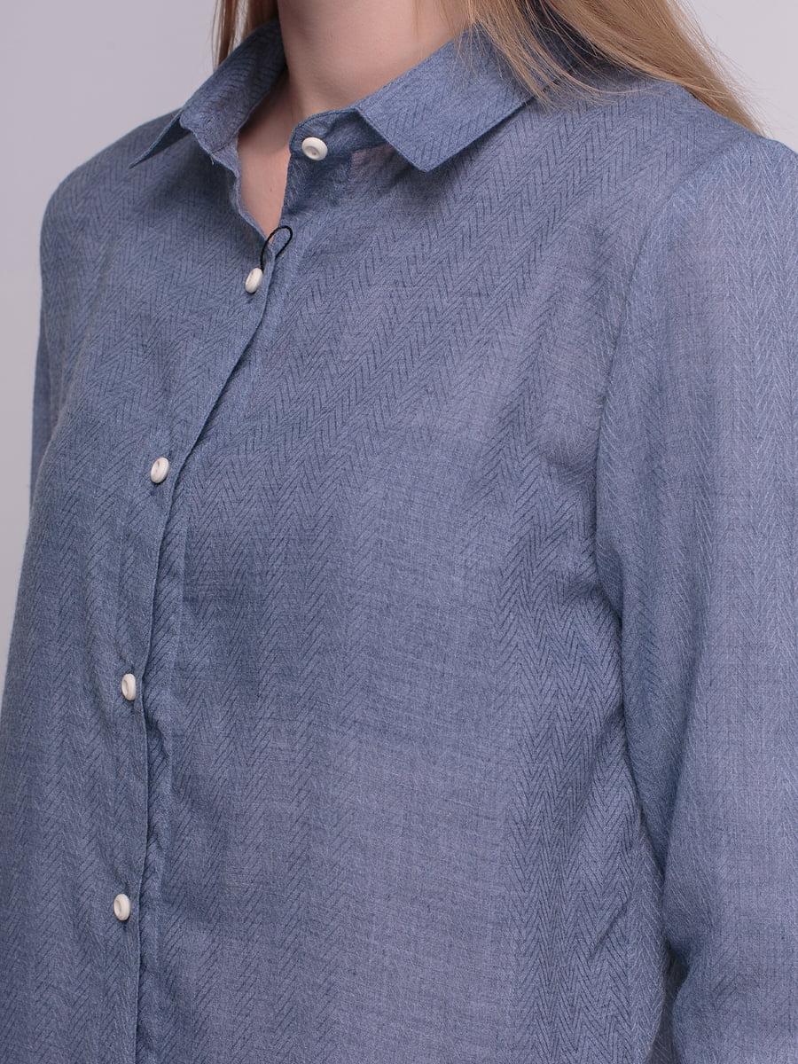 Рубашка синяя | 4210288 | фото 3