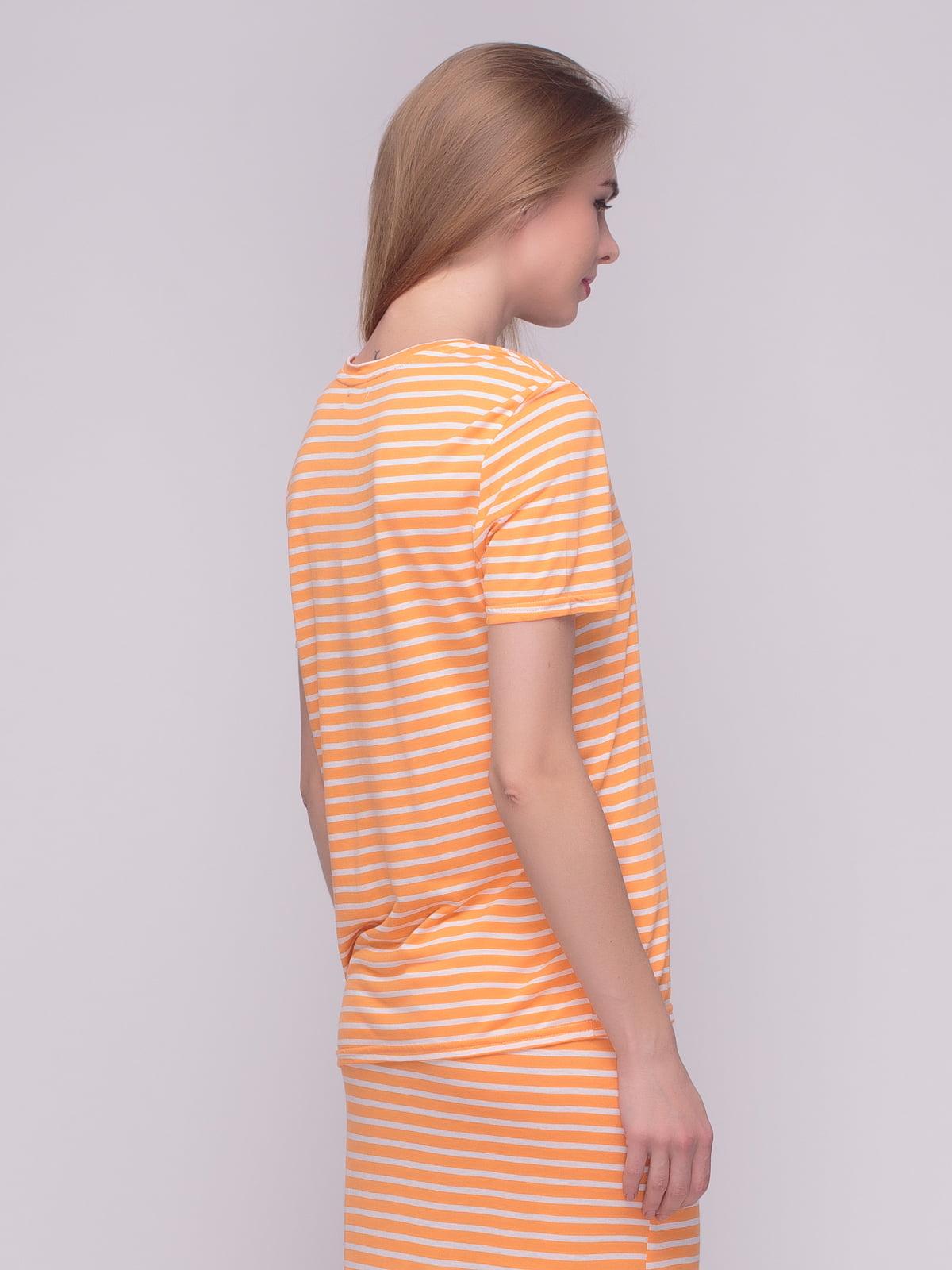 Футболка помаранчева у смужку   4210220   фото 2