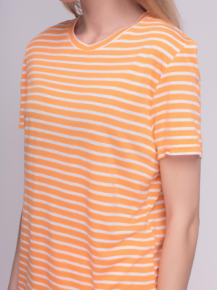 Футболка помаранчева у смужку   4210220   фото 3