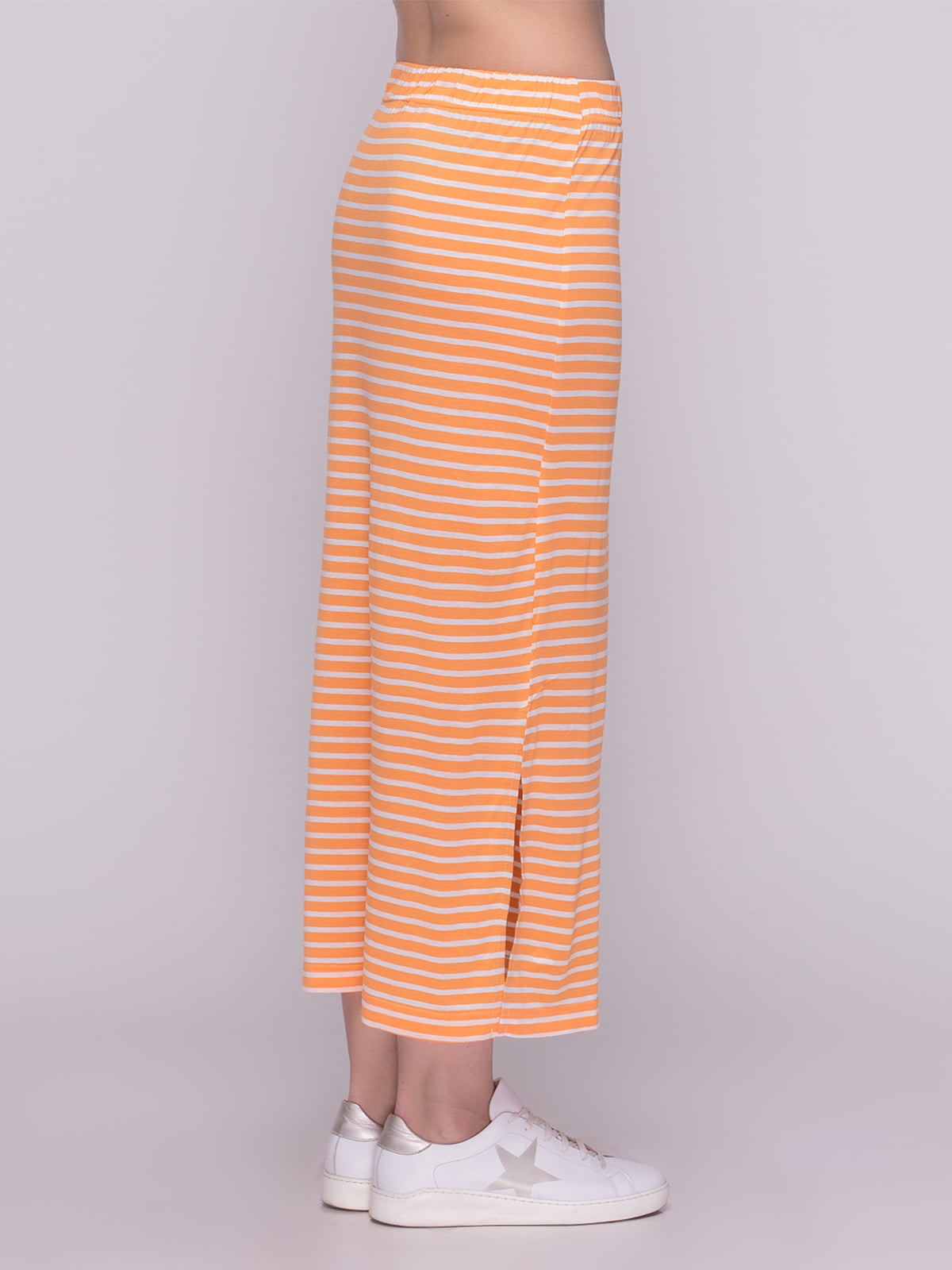 Юбка оранжевая в полоску | 4210216 | фото 3