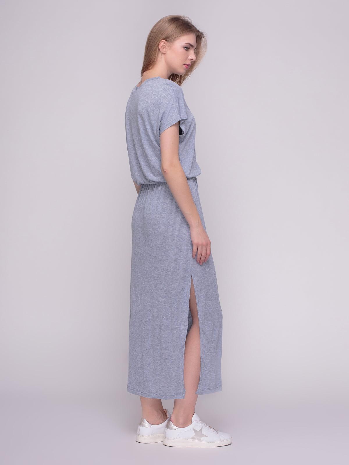 Платье серое | 4210279 | фото 2