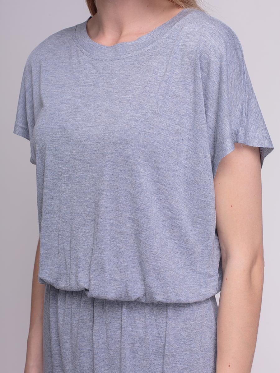 Платье серое | 4210279 | фото 3