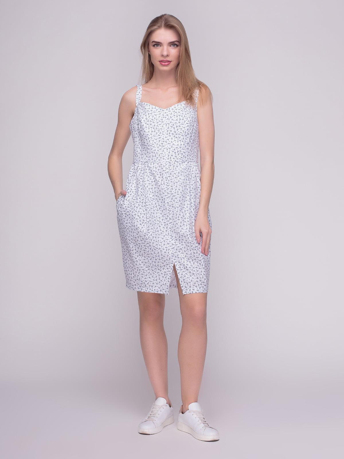 Сукня біла в принт | 4210265