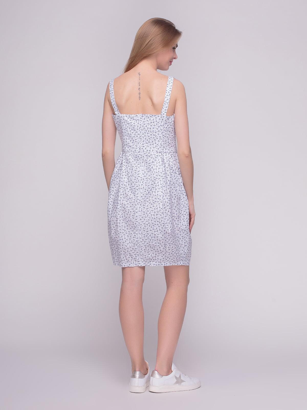 Сукня біла в принт | 4210265 | фото 2