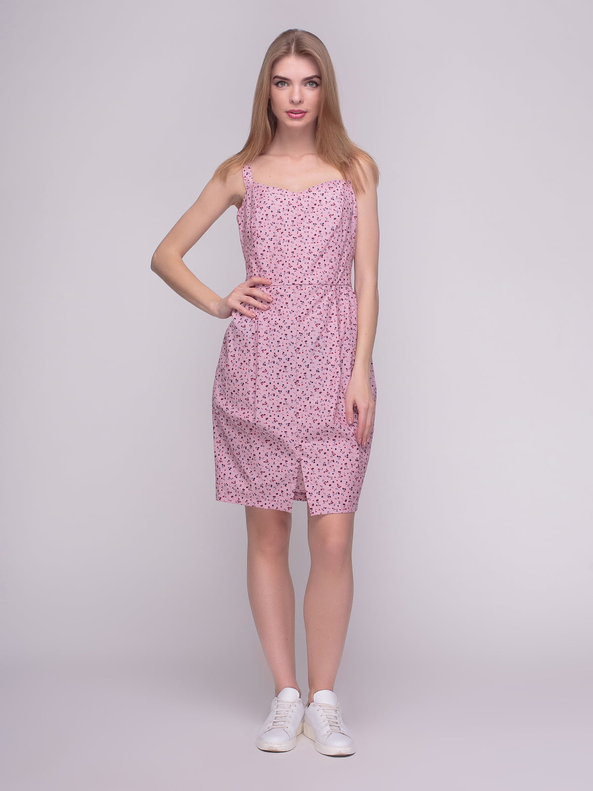 Сукня рожева у принт | 4210266