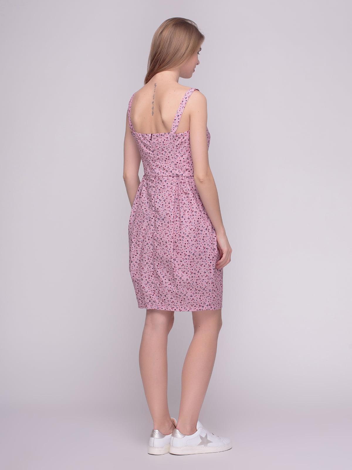 Сукня рожева у принт | 4210266 | фото 2
