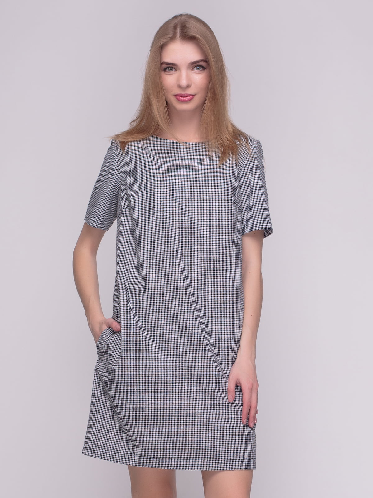 Сукня чорно-біла в клітинку | 4210219