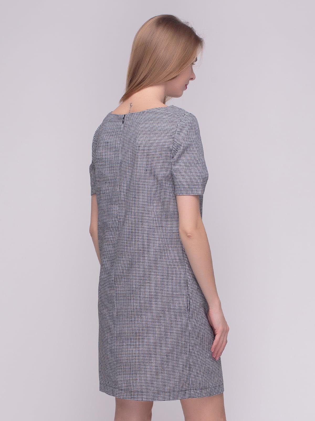 Сукня чорно-біла в клітинку | 4210219 | фото 2