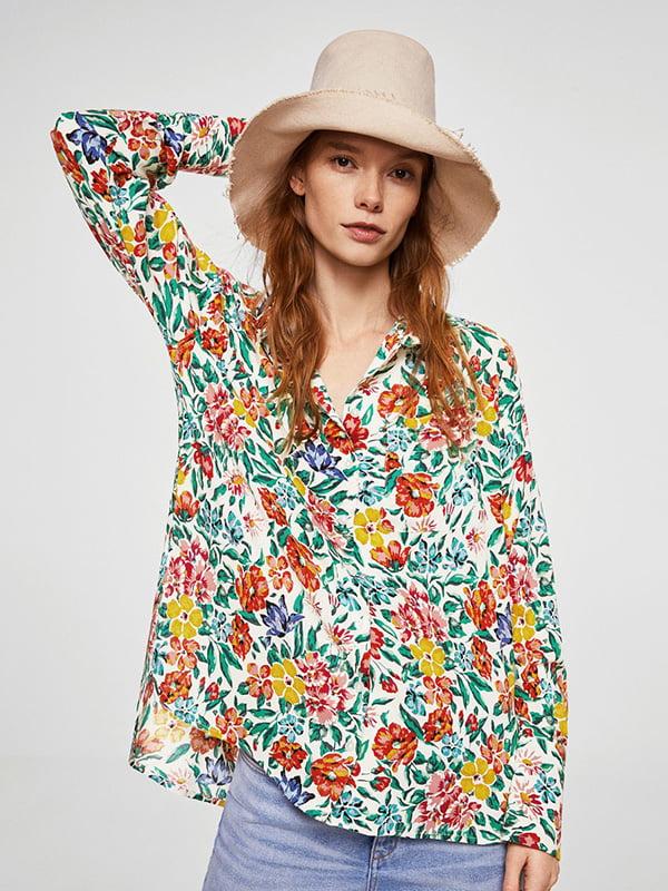 Блуза в цветочный принт   4087288