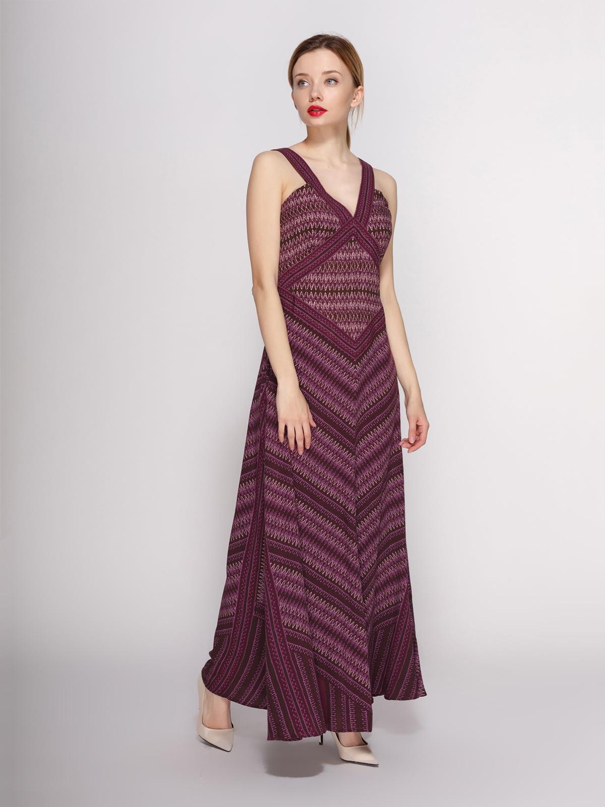 Платье бордовое с узором | 4144084