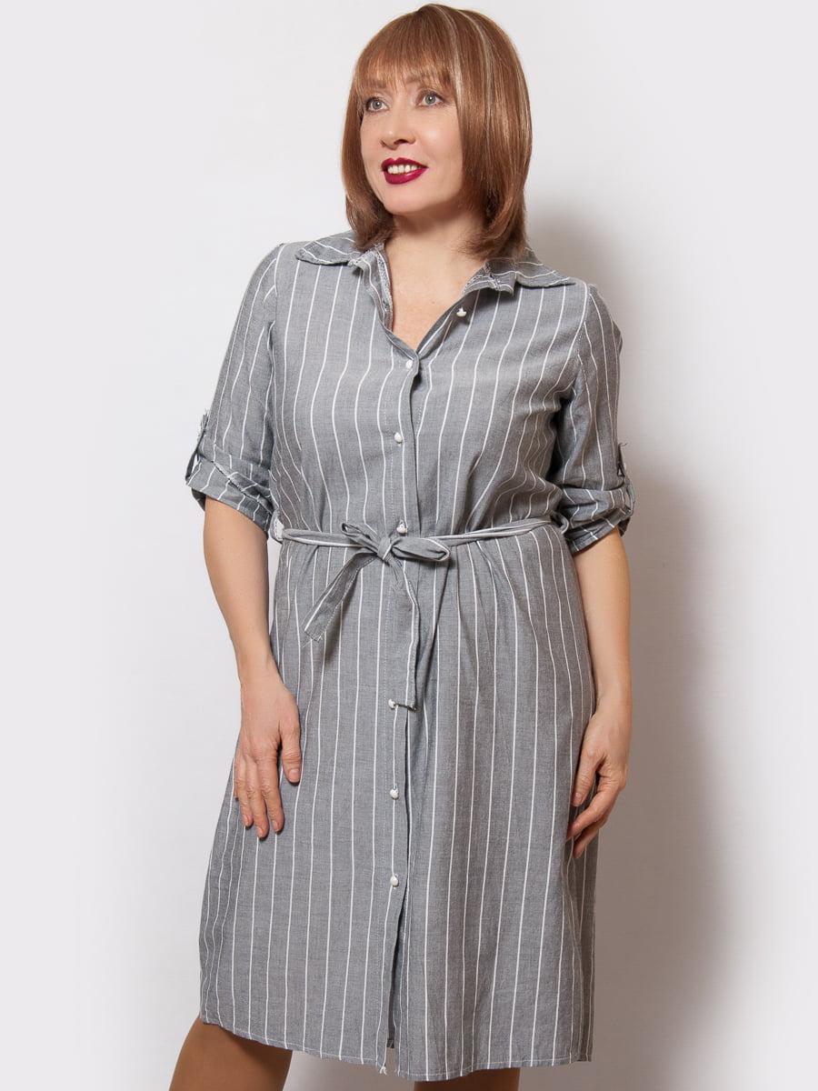 Сукня сіра в смужку   4220138