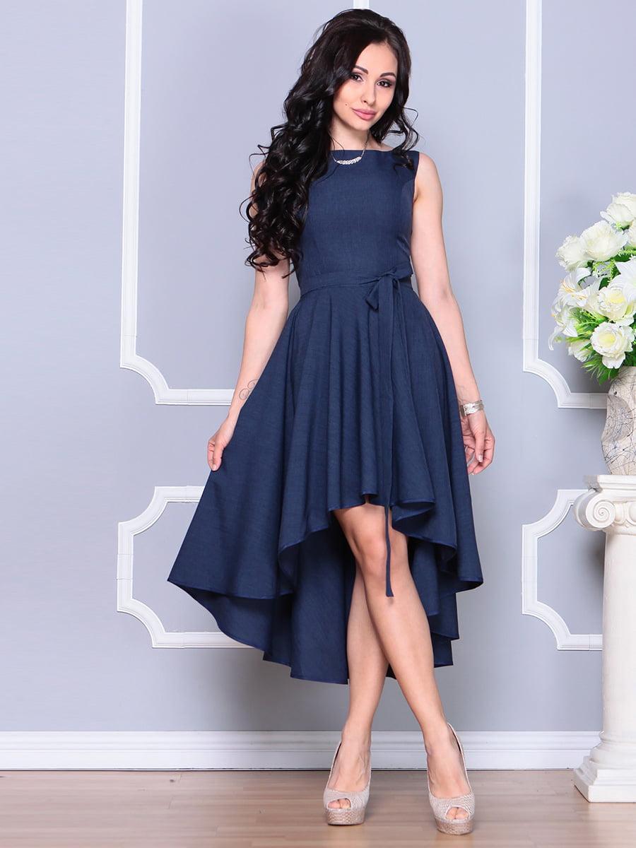 Платье темно-синее | 4222429