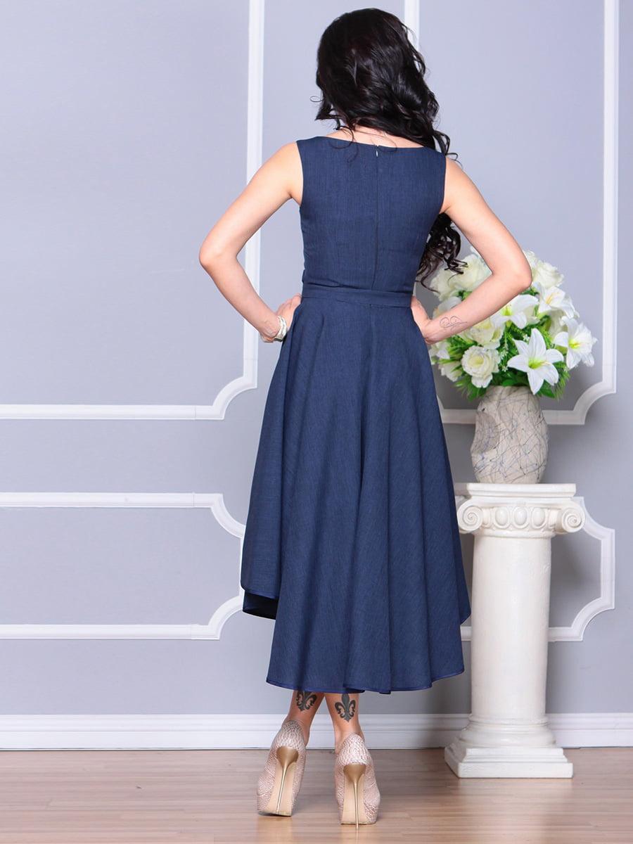 Платье темно-синее | 4222429 | фото 2