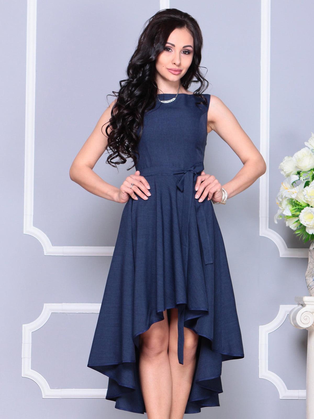 Платье темно-синее | 4222429 | фото 3