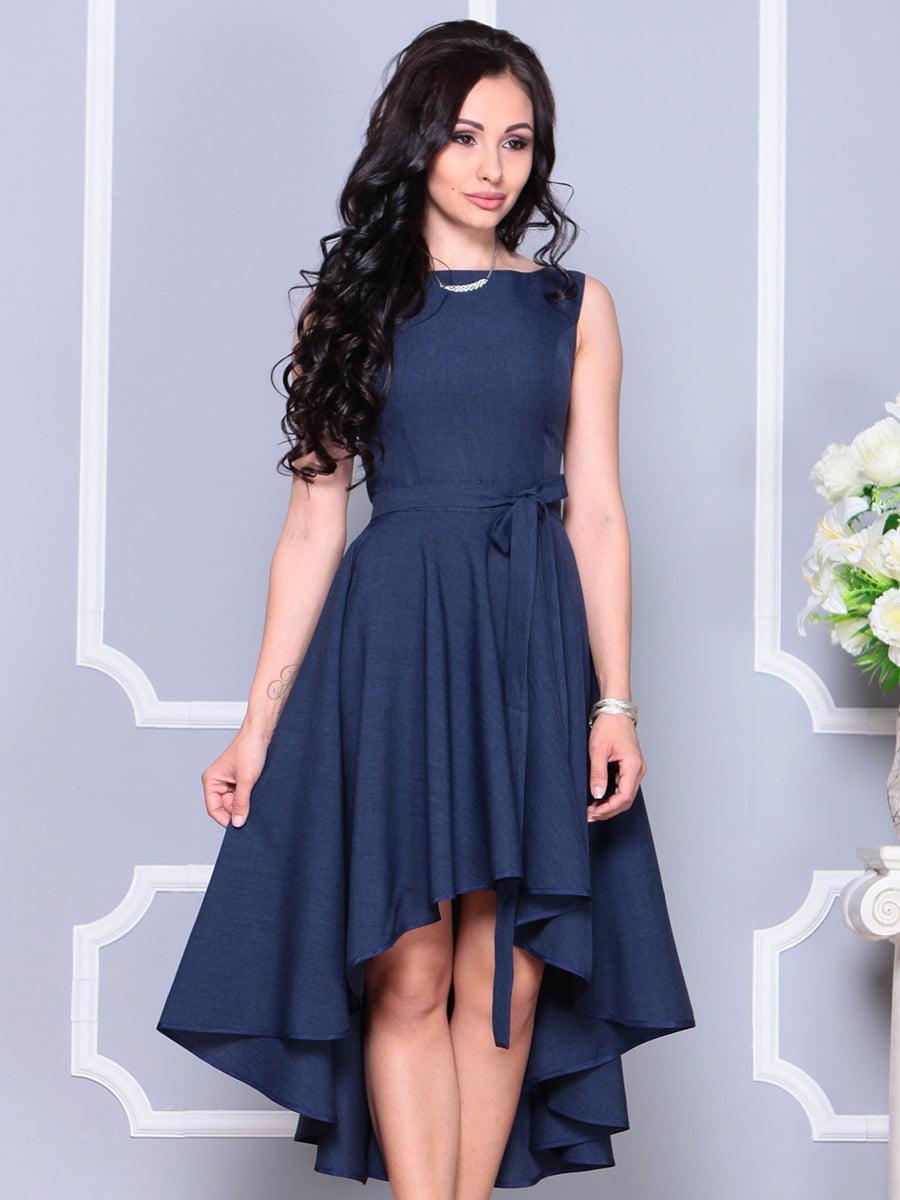 Платье темно-синее | 4222429 | фото 4